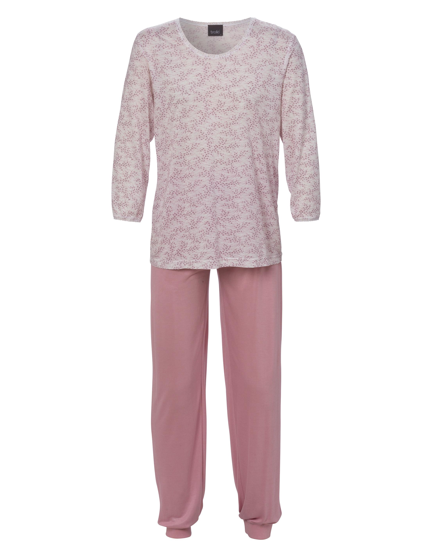 Pyjamas i Bambu 2-delad Rosa Lång Ärm