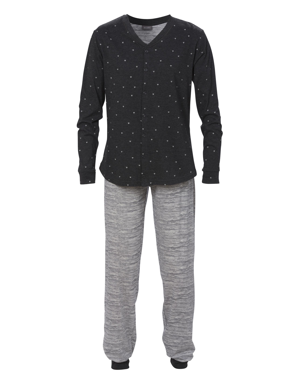 Pyjamas 2-delad Grå Lång Ärm