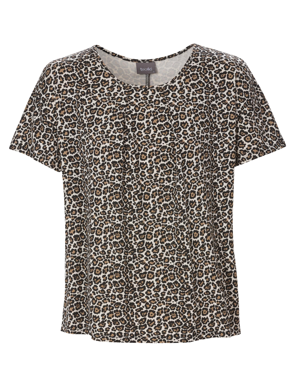 Pyjamastopp Leopard Kort Ärm - Mix