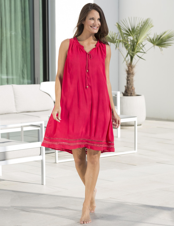 Strandklänning Tunika Röd