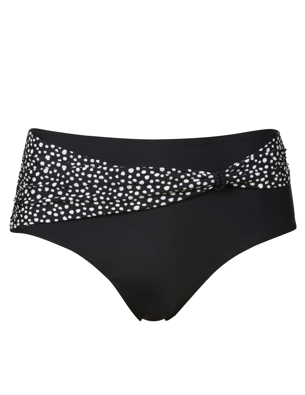 Bikinitrosa Midi Svart/Vit