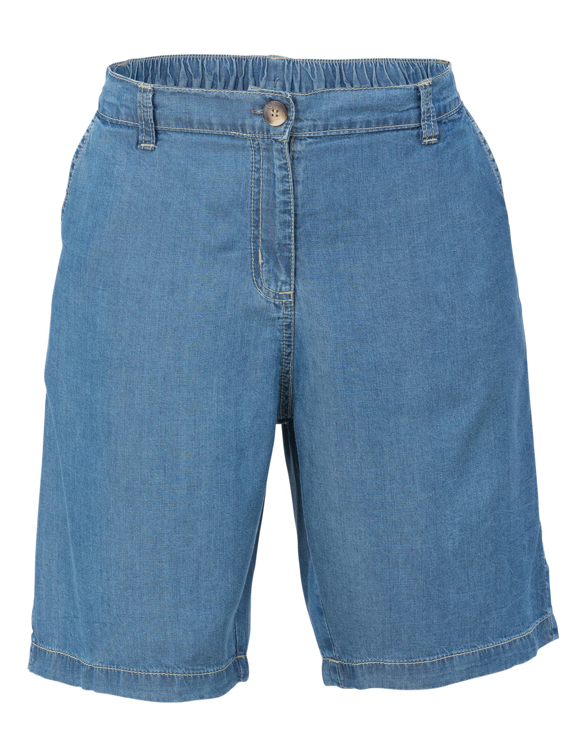 Shorts Halvlånga Tencel Jeansblå