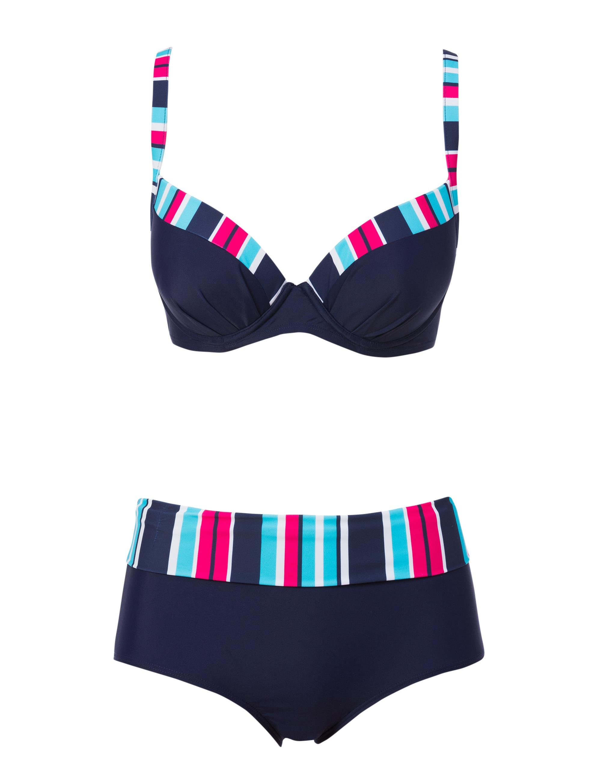 Bikini Bygel-Bh & Miditrosa Marin