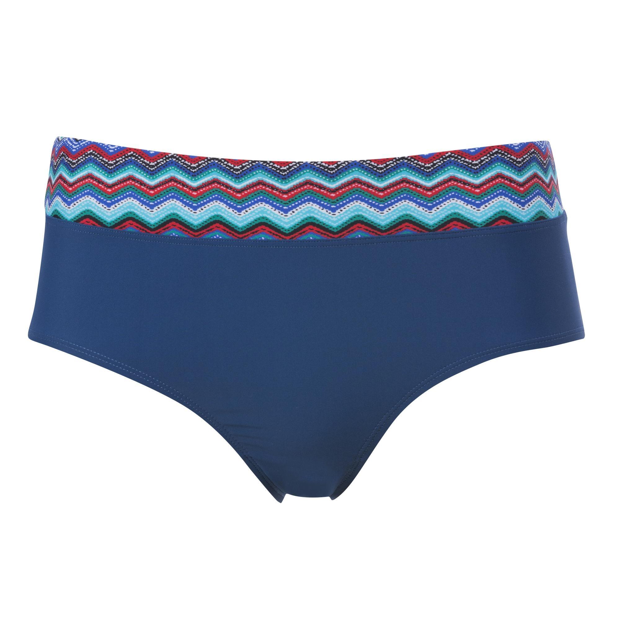 Bikinitrosa Midi Mönstrad Blå